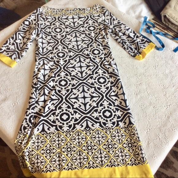 Haani Dresses & Skirts - Haani Black White and Yellow Dress